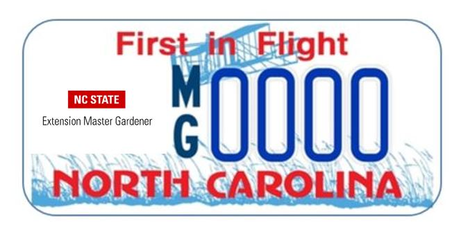 License plate with new logo