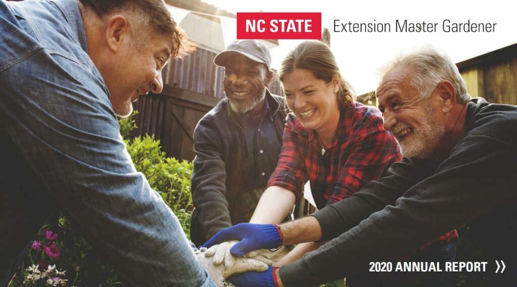 Extension Master Gardener program annual report cover
